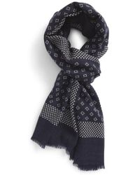 Calibrate - Diamond Dot Wool Scarf - Lyst