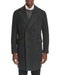 Boglioli - Trim Fit Double Breasted Wool & Cashmere Coat - Lyst