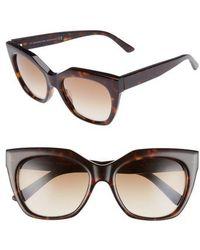 Balenciaga   54mm Cat Eye Sunglasses - Dark Havana/ Gradient Brown   Lyst