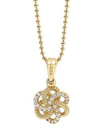 Lagos - 'love Knot' Diamond Pendant Necklace - Lyst