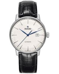 Rado - Coupole Classic Automatic Embossed Leather Strap Watch - Lyst