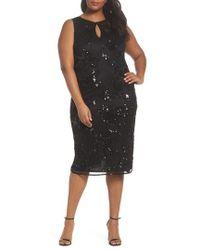 Pisarro Nights | Embellished Keyhole Sheath Dress | Lyst