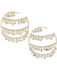 Melinda Maria - Rochelle Hoop Earrings - Lyst