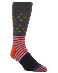 Happy Socks - Stripe & Dot Pattern Socks - Lyst