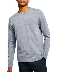 TOPMAN - Side Rib Cotton Sweater - Lyst