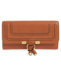 Chloé   'marcie - Long' Leather Flap Wallet   Lyst