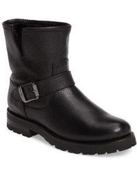 Frye - Natalie Genuine Shearling Water Resistant Engineer Boot - Lyst