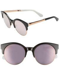 Kate Spade - Kaileen 52mm Semi-rimless Cat Eye Sunglasses - Lyst