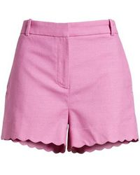 J.Crew - Fiesta Scallop Hem Stretch Cotton Shorts - Lyst
