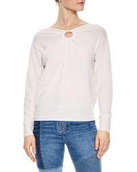 Sandro - Keyhole Wool & Cashmere Sweater - Lyst