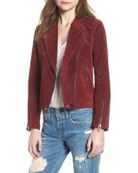 Blank NYC - No Limit Suede Moto Jacket - Lyst