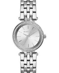 Michael Kors - 'Darci' Crystal Bezel Bracelet Watch - Lyst