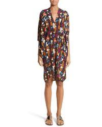 Zero + Maria Cornejo - Print Stretch Silk Drape Dress - Lyst