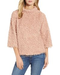 Vince Camuto - Mock Neck Popcorn Top - Lyst