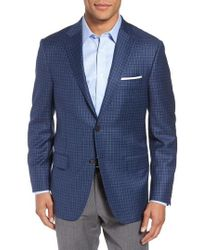 Hickey Freeman - Classic B Fit Check Wool Sport Coat - Lyst