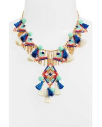 Rebecca Minkoff - Geo Drama Statement Necklace - Lyst