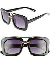 Privé Revaux - The Karl 50mm Square Aviator Sunglasses - Lyst