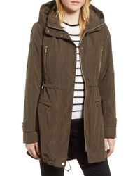 Gallery - Hooded Parka With Faux Fur Liner - Lyst