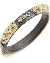Armenta - Old World Carved Diamond Stack Ring - Lyst