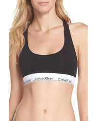CALVIN KLEIN 205W39NYC - 'modern Cotton Collection' Cotton Blend Racerback Bralette - Lyst