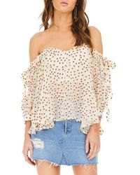 Astr - Jillian Off The Shoulder Top - Lyst