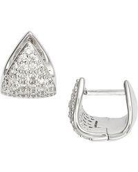 Nadri - Mora Pave Huggie Hoop Earrings - Lyst