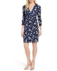 Anne Klein - New York Amalfi Print Classic Wrap Dress - Lyst