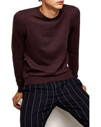 TOPMAN - Classic Crewneck Sweater - Lyst