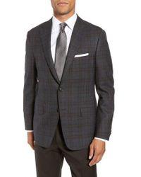 Hickey Freeman - Classic Fit Plaid Wool Sport Coat - Lyst