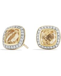 David Yurman - 'albion' Earrings With Semiprecious Stone And Diamonds In Gold - Lyst