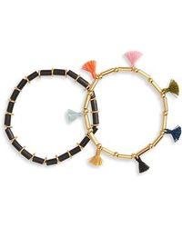 Madewell - Bead & Tassel Set Of 2 Bracelets - Lyst