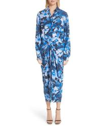 Michael Kors - Floral Silk Sarong Dress - Lyst
