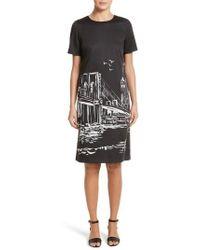 Lafayette 148 New York   Giuliana Print Shift Dress   Lyst