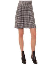 Akris Punto - Check Pleated Skirt - Lyst