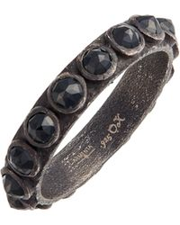 Armenta - New World Black Spinel Sterling Silver Stackable Ring - Lyst