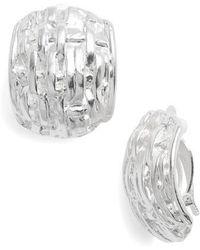 Karine Sultan - Grace Clip Earrings - Lyst