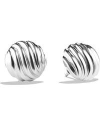 David Yurman - 'sculpted Cable' Earrings - Lyst