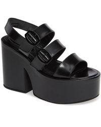 Simone Rocha - Platform Leather Sandal - Lyst