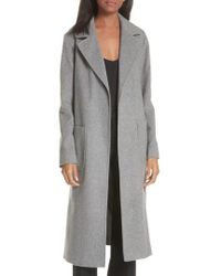 Helene Berman - Notch Collar Edge To Edge Wool Blend Coat - Lyst