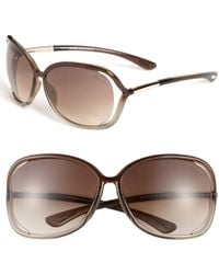 a6c58dbd82fe Lyst - Tom Ford  whitney  64mm Open Side Sunglasses - Dark Grey in Gray