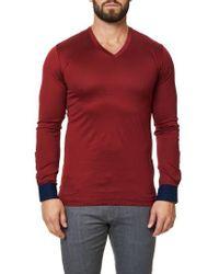 Maceoo - Long Sleeve V-neck - Lyst