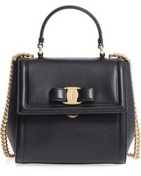 Ferragamo - Small Carrie Leather Satchel - Lyst