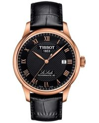 Tissot | Le Locle Leather Strap Watch | Lyst