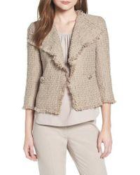 Anne Klein - Fringed Tweed Jacket - Lyst