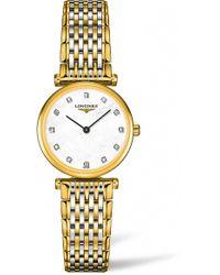Longines - La Grande Classique De Diamond Bracelet Watch - Lyst