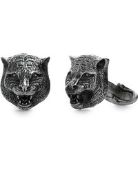 Gucci - Feline Heads Cuff Links - Lyst