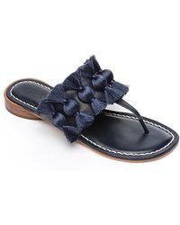 ad8ec86072c Lyst - Taryn Rose Tara Serpent Patent Leather Sandal in Black