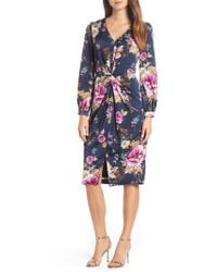 Maggy London - Floral Charmeuse Dress - Lyst