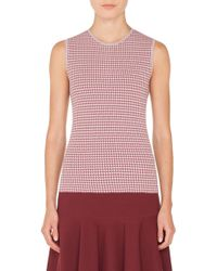 Akris Punto - Houndstooth Sleeveless Sweater - Lyst