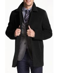Cole Haan - Italian Wool Blend Overcoat - Lyst